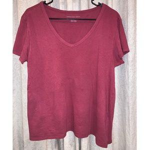 american eagle burgundy shirt